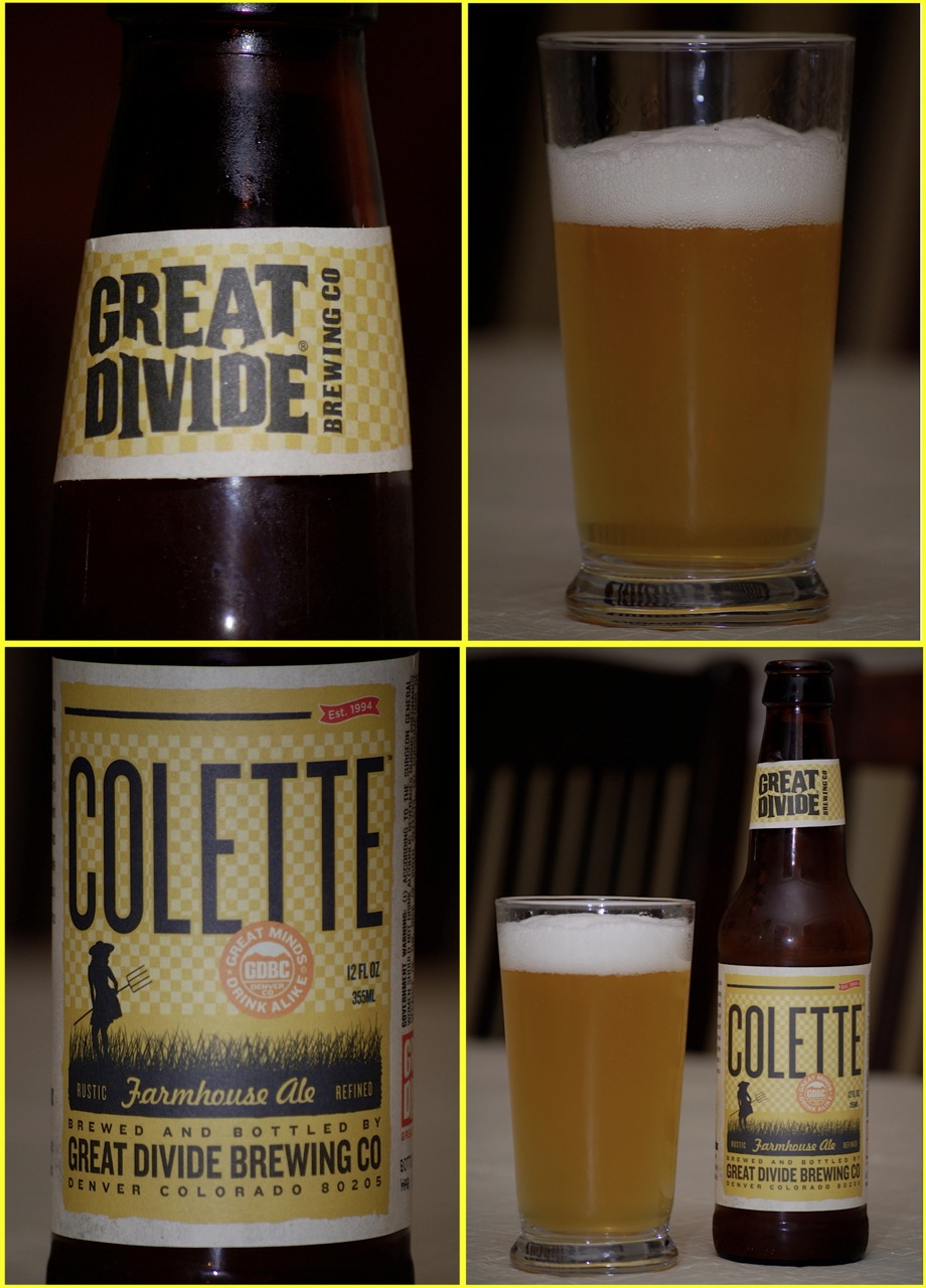 9ccfdb6792 Beer Review – Great Divide Colette – It s just the booze dancing…