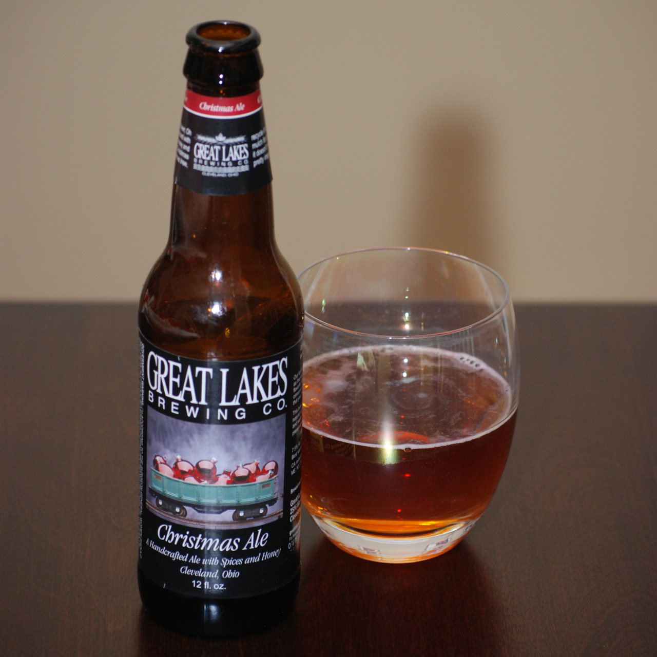 Beer Review – Great Lakes Christmas Ale – It\'s just the booze dancing…
