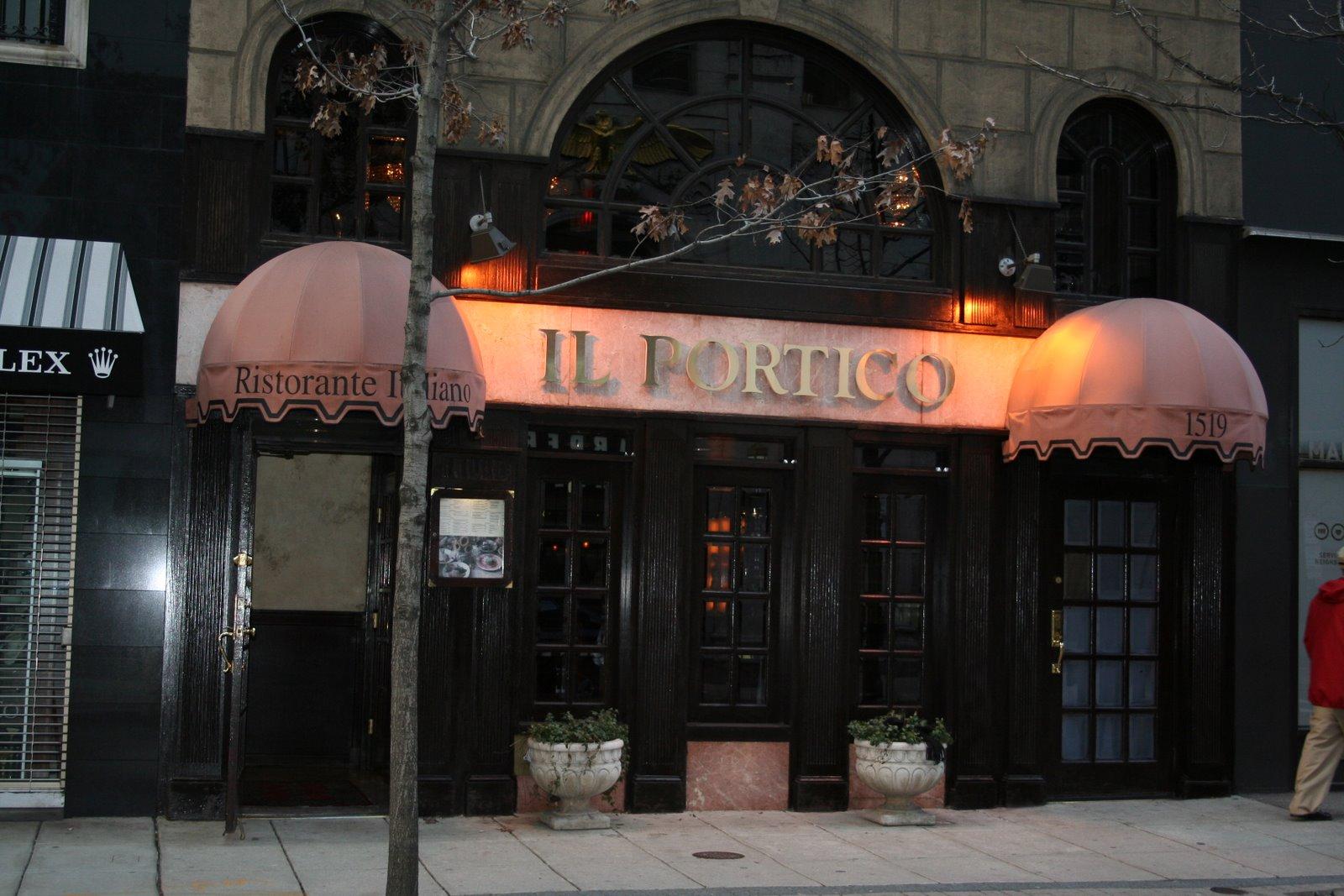 Il Portico Di Sam restaurant review – il portico – it's just the booze dancing…