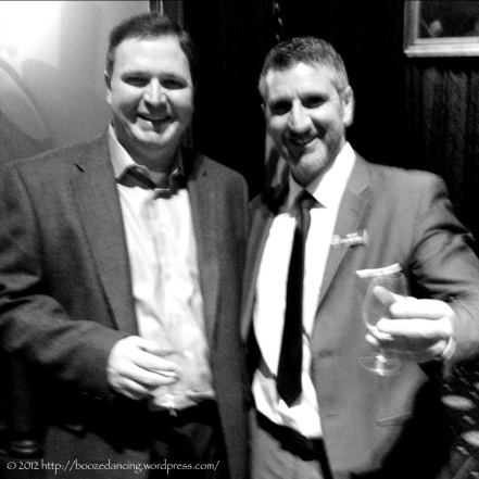 Sharing a dram with the great Ricky Crawford!