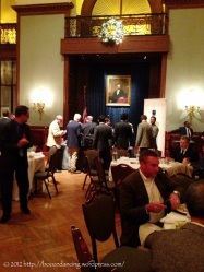 Eating and drinking at The Union League.