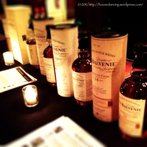 The Balvenie brought their full line up.