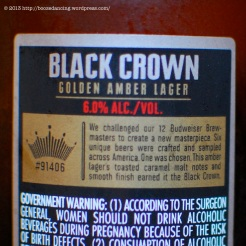 Black Crown - Back Label