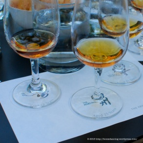 The formal tasting selections.