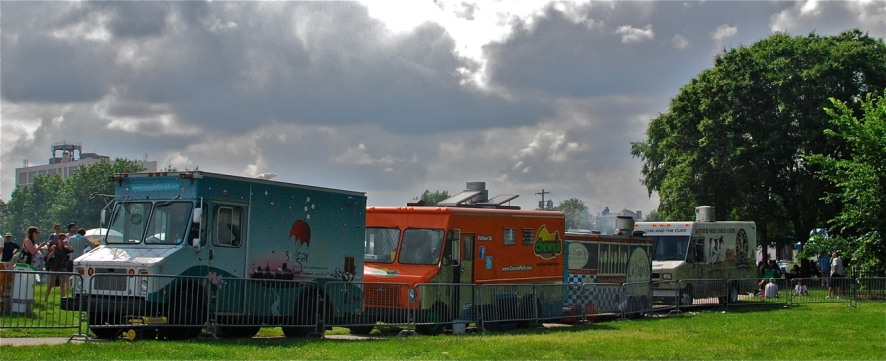Just a few of the food trucks that attended the 2013 Vendy Awards