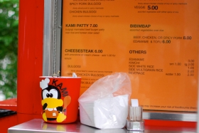 Kami Korean Food truck menu