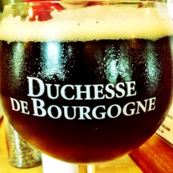 A bit of The Duchesse on draught at The Badger Cafe and Pub in Union , ME.