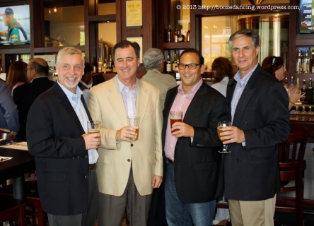Kevin Finn, CEO & President, Iron Hill Brewery & Restaurant, Michael R. Mignogna, Mayor of Voorhees, NJ, Joseph J. Aristone, Senior Vice President – Leasing – PREIT, & Michael Fox, General Manager, Voorhees Town Center celebrate the opening