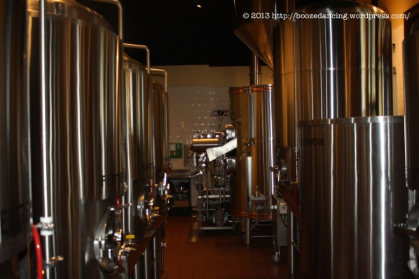 A view into the brewery