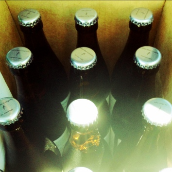 A case of Maine Beer Company beer.