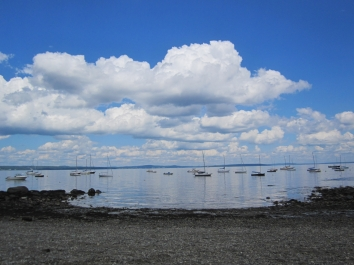 A bit of #cloudporn over the West Penobscot Bay