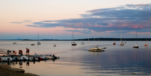 West Penobscot Bay at sunset