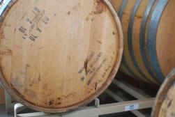 Single Malt Whisky aging in Jack Daniels barrels at Sweetgrass Farm Winery and Distillery.