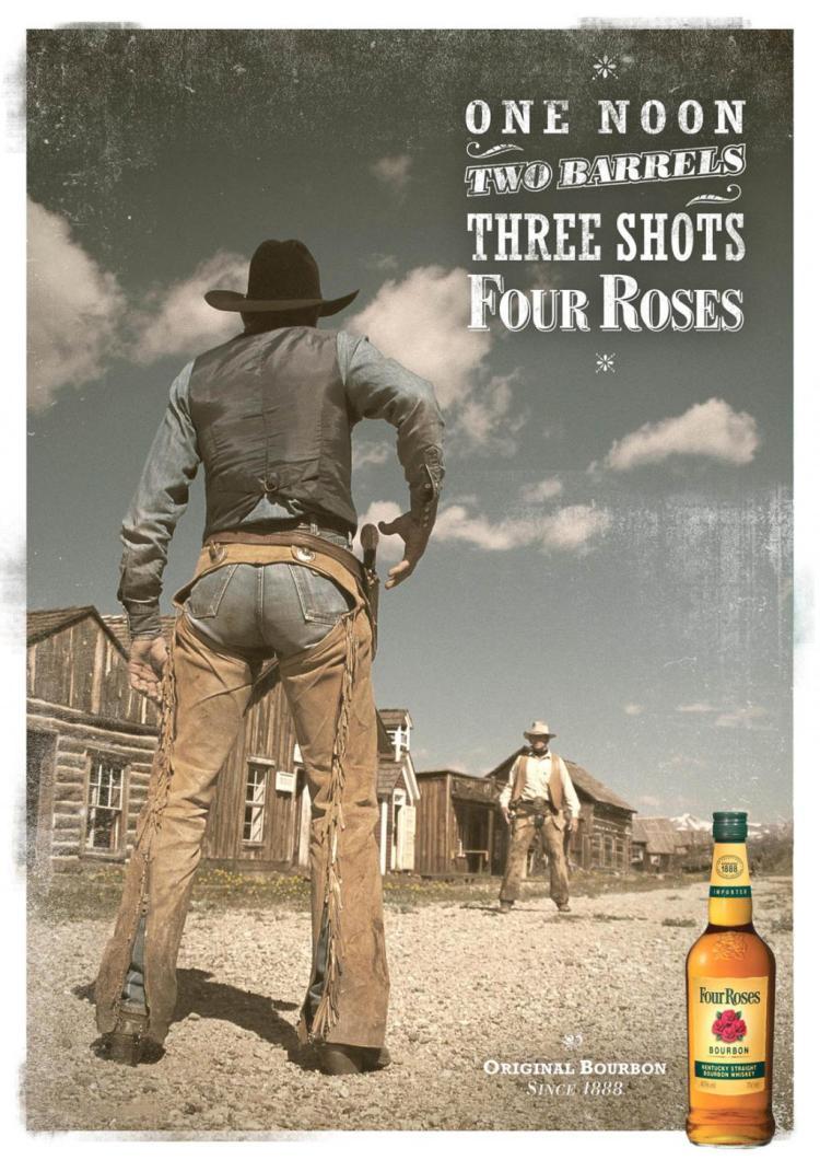 Four Roses Bourbon Advertisement