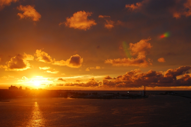 Sunset in Nassau