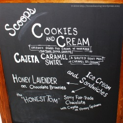 Weckerly's Spruce Hill Creamery Menu