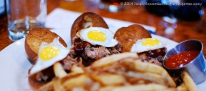 Pulled Pork Sliders with Quail Eggs