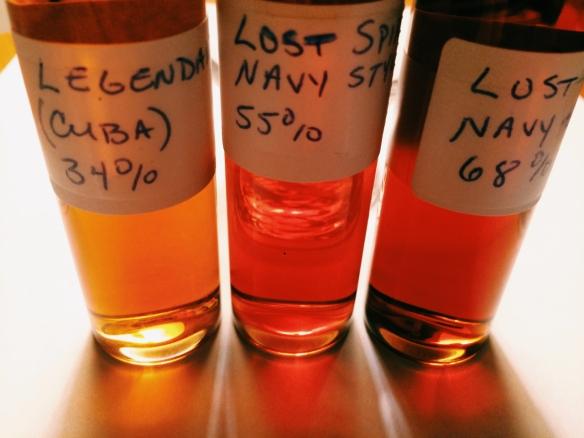Krouse Rum Samples