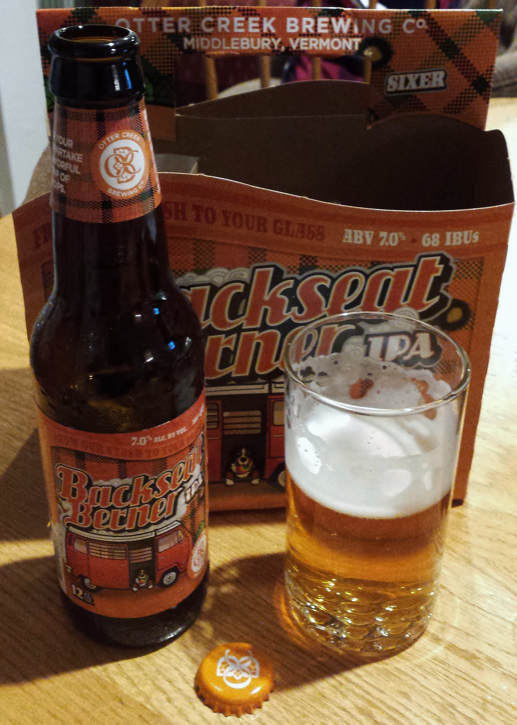 009548cad Beer Review – Otter Creek Brewing Co. – Backseat Berner IPA – It s ...