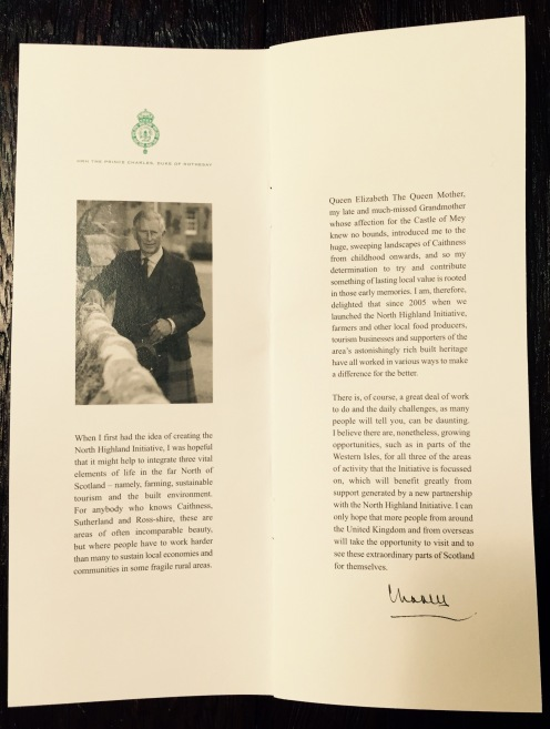 Prince Charles Letter