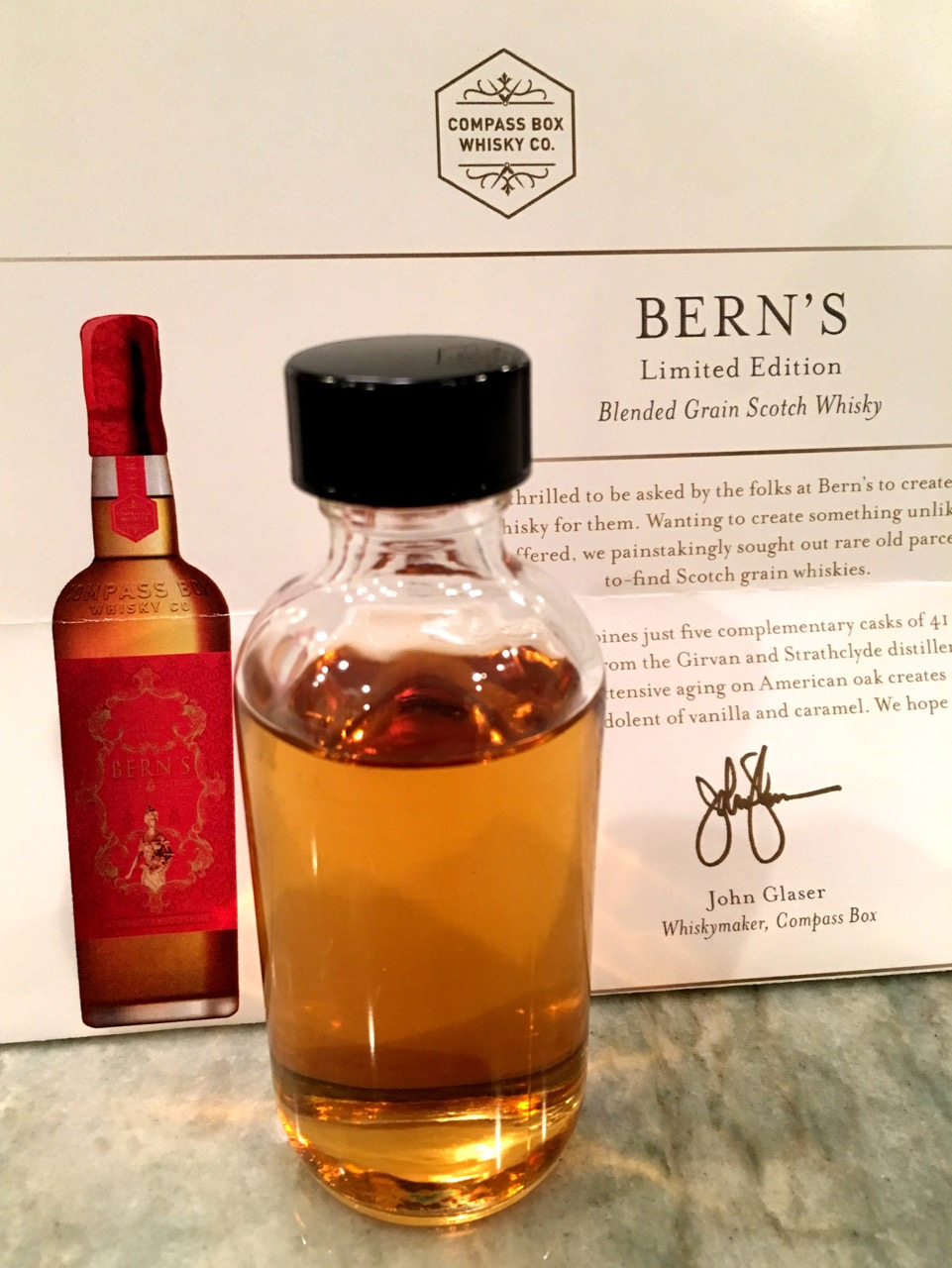 Whisky Review – Compass Box Bern\'s Limited Edition Blended Grain ...