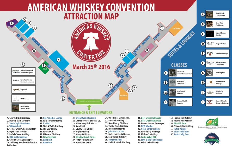 American Whiskey Convention Vendor Map