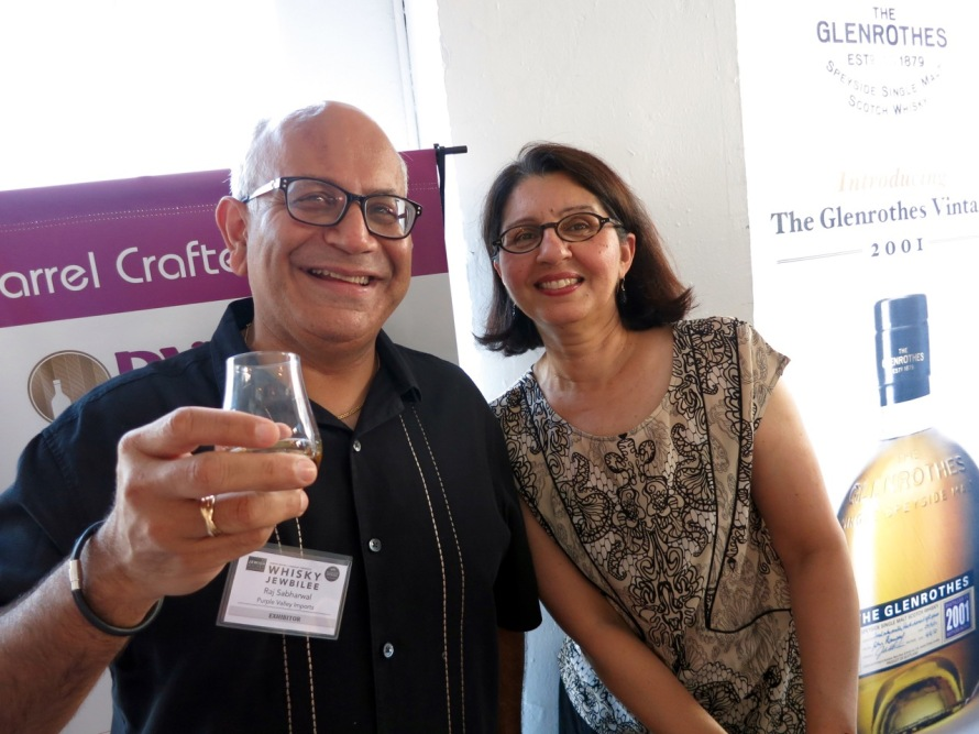 Raj Sabharwal and his Better Half at the 2015 NYC Whisky Jewbilee