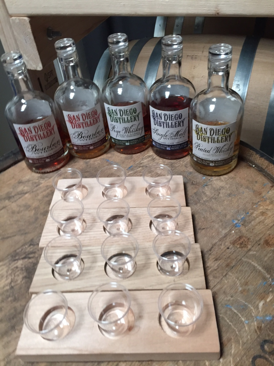 San Diego Distillery - Whiskey Flights