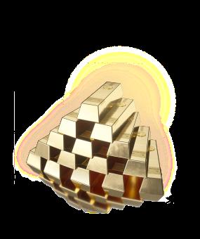 Gold Bar Whiskey Stack