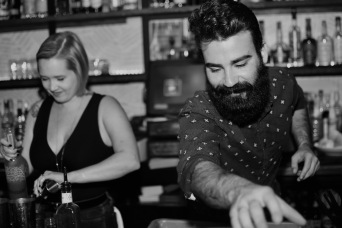Whiskey Bonanza 2019 at The Twisted Tail in B+W - 3