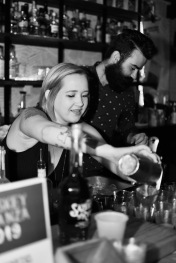 Whiskey Bonanza 2019 at The Twisted Tail in B+W - 4