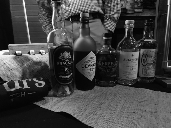 Whiskey Bonanza 2019 at The Twisted Tail in B+W - 7